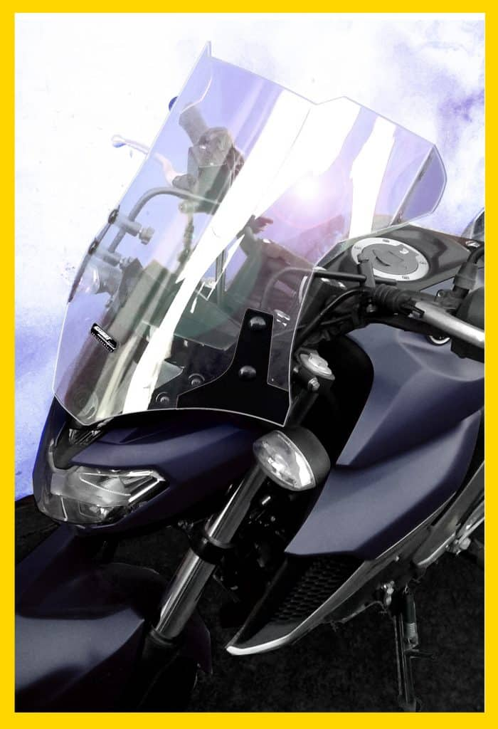 Bolha para moto universal sport em policarbonato cristal 4mm - Cristal policarbonato ...